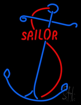 Red Sailor Logo Neon Flex Sign