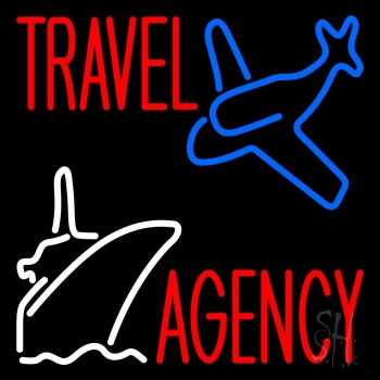 Travel Agency With Logo Neon Flex Sign