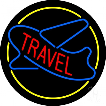 Travel With Blue Logo Neon Flex Sign