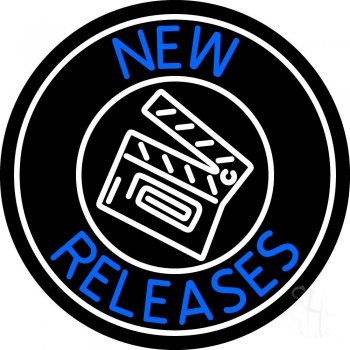 Blue New Releases With Logo Neon Flex Sign