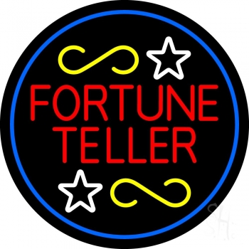 Fortune Teller With Blue Border Neon Flex Sign