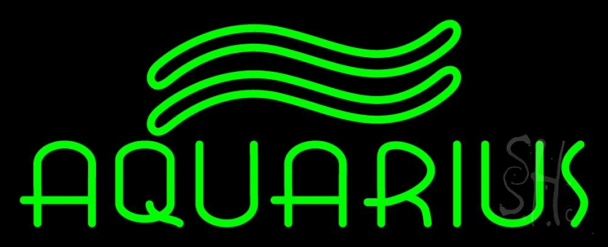 Green Aquarius Neon Flex Sign