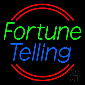 Green Fortune Blue Telling Neon Flex Sign