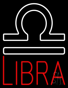 Red Libra Zodiac Neon Flex Sign