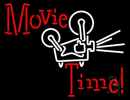 Movie Time With Logo Neon Flex Sign