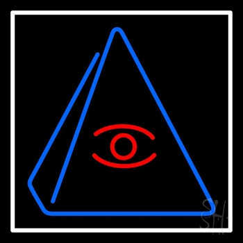 Psychic Eye Pyramid Neon Flex Sign