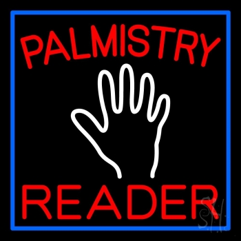Red Palmistry Reader Neon Flex Sign