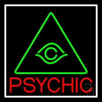Red Psychic Green Logo Neon Flex Sign