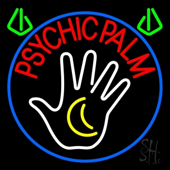 Red Psychic Palms Neon Flex Sign