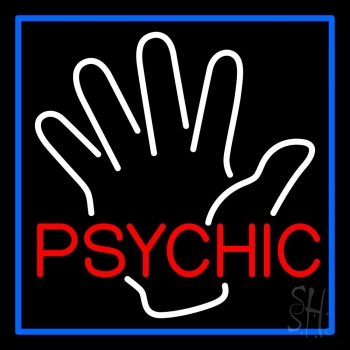 Red Psychic With Palm Neon Flex Sign