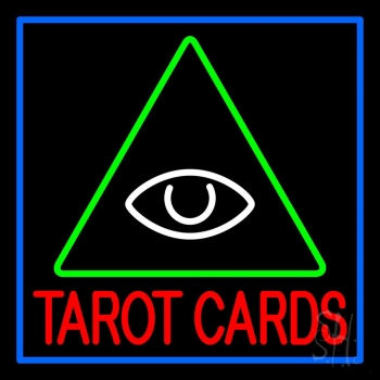 Red Tarot Cards Logo Neon Flex Sign