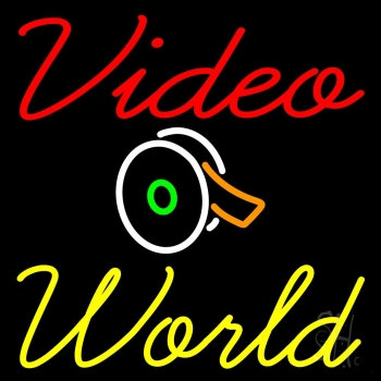 Video World With Logo Neon Flex Sign