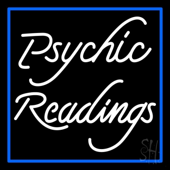 White Psychic Readings With Border Neon Flex Sign