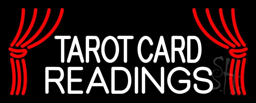White Tarot Card Readings Neon Flex Sign