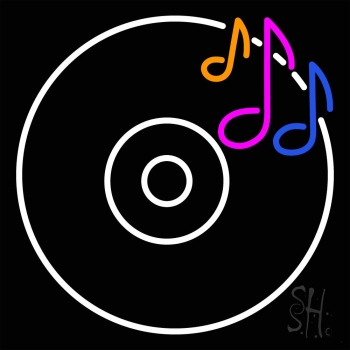 Cd Musical Note Neon Flex Sign