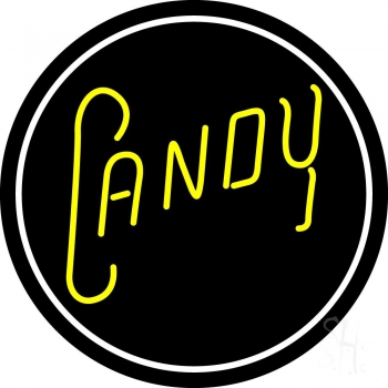 Yellow Candy Neon Flex Sign