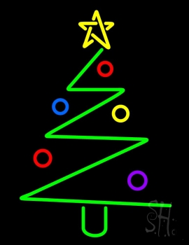 Logo Christmas Tree Neon Flex Sign