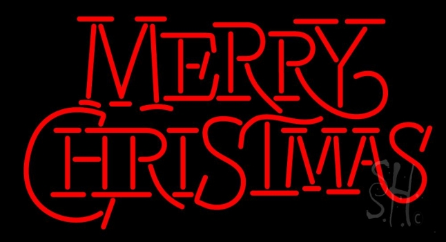 Merry Christmas Block Neon Flex Sign
