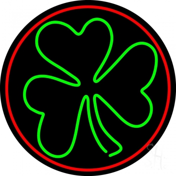 Happy St Patricks Day Shamrock Neon Flex Sign