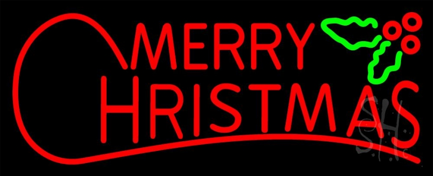 Red Merry Christmas Block Neon Flex Sign