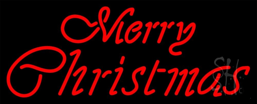 Red Merry Christmas Neon Flex Sign
