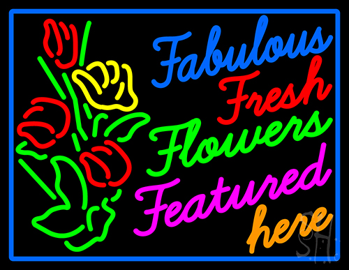 Fabulous Fresh Flowers Featured Here Neon Flex Sign