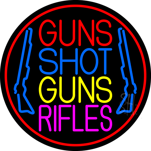 Guns Shot Guns Rifles Neon Flex Sign