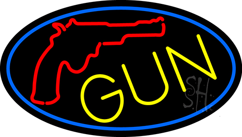 Gun With Logo Neon Flex Sign