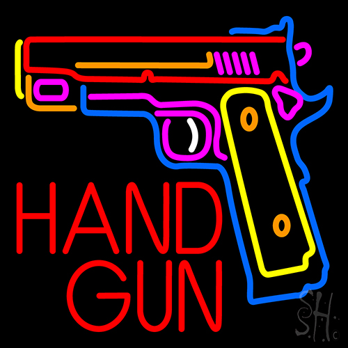 Hand Gun Neon Flex Sign