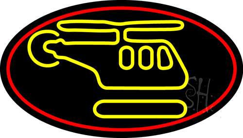Helicopter Logo Neon Flex Sign
