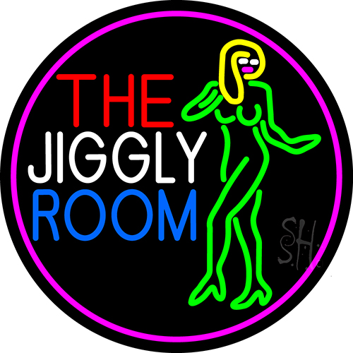The Jiggly Room With Girl Logo Neon Flex Sign