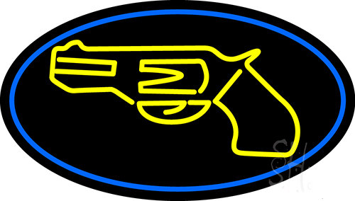 Yellow Gun Neon Flex Sign