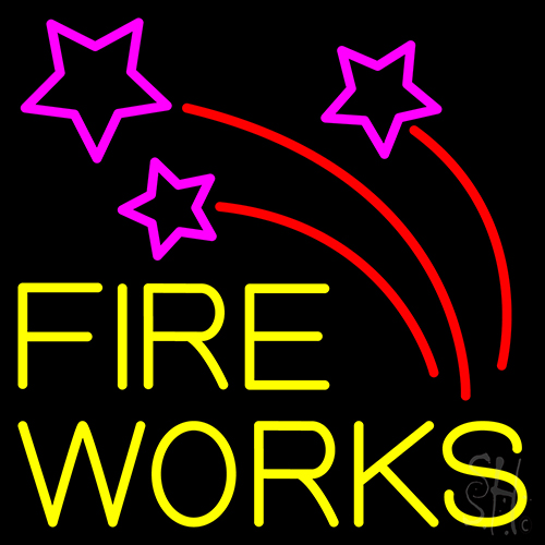 Double Stroke Fire Works 2 Neon Flex Sign