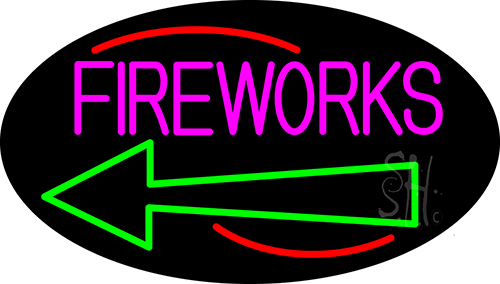 Fireworks With Arrow 2 Neon Flex Sign
