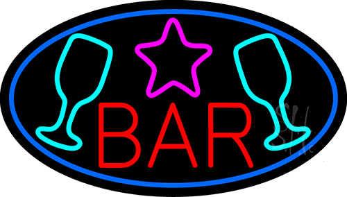 Bar With Martini Glass Neon Flex Sign