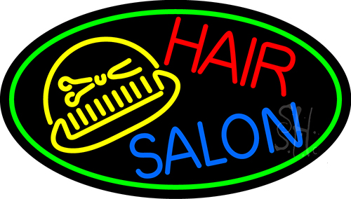 Hair Salon With Scissor And Comb Neon Flex Sign