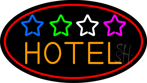 Hotel With Stars Neon Flex Sign