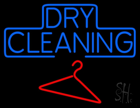 Block Dry Cleaning Neon Flex Sign