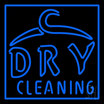 Blue Dry Cleaning Neon Flex Sign