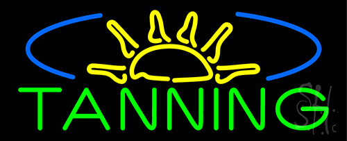 Tanning With Sun Rays Neon Flex Sign