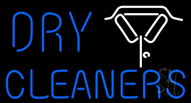 Dry Cleaners With Shirt Logo Neon Flex Sign