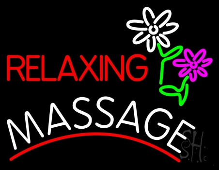 Relaxing Massage Neon Flex Sign