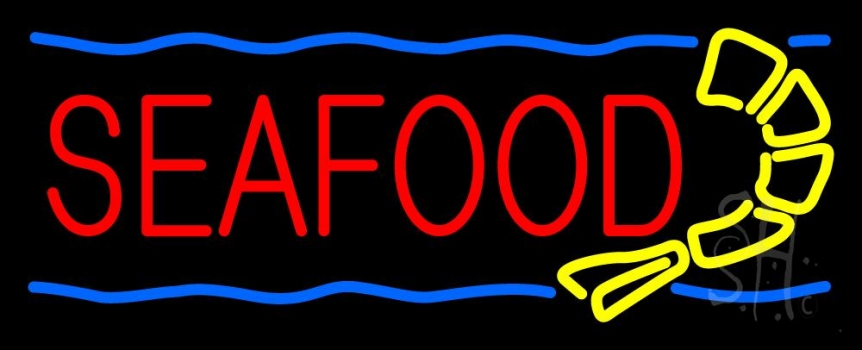 Red Seafood Neon Flex Sign
