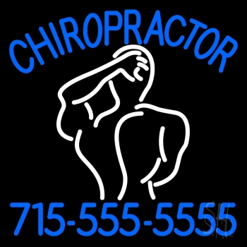 Chiropractor Logo With Number Neon Flex Sign