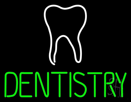 Dentistry With Tooth Logo Neon Flex Sign