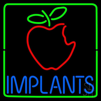 Implants With Apple Logo Neon Flex Sign