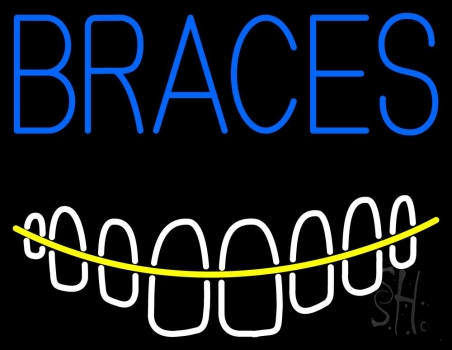 Braces With Teeth Neon Flex Sign