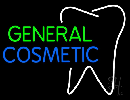 General Cosmetic With Tooth Logo Neon Flex Sign