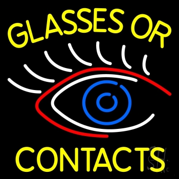 Glasses Or Contacts Eye Logo Neon Flex Sign