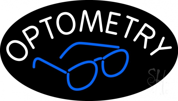 Optometry With Glass Logo Neon Flex Sign